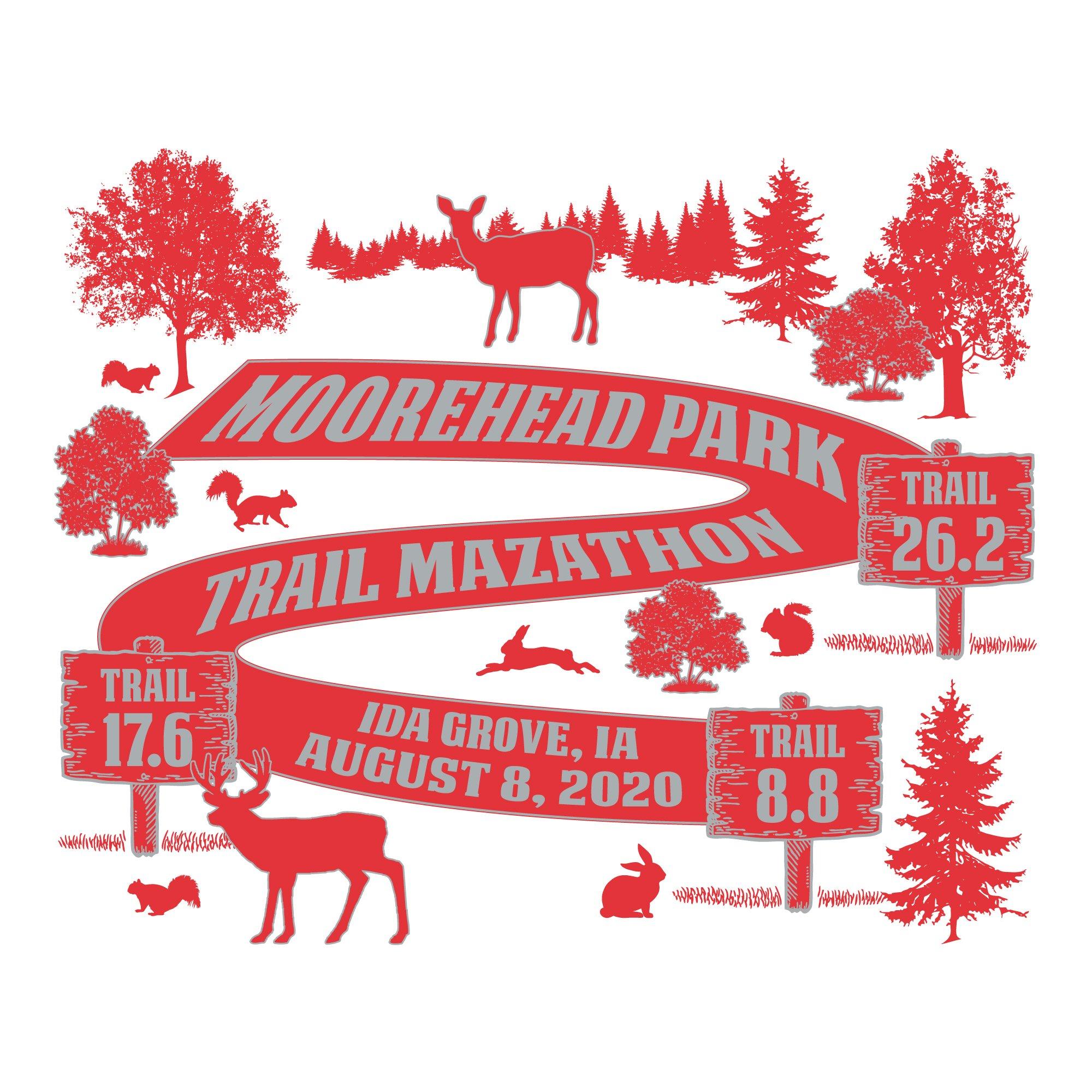 moorehead park trail mazathon logo